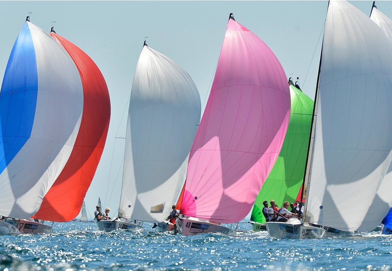 flotta melges di poppa a Torbole sul Garda